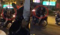 đánh vợ giữa đường, nhóm thanh niên, dạy cho bài học