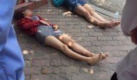 bất tỉnh khi sang đường, 2 cô gái