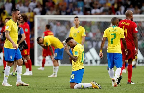 brazil thua Bỉ