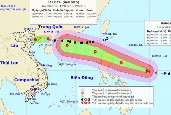 Siêu bão Mangkhut có thể ảnh hưởng trực tiếp đến Việt Nam
