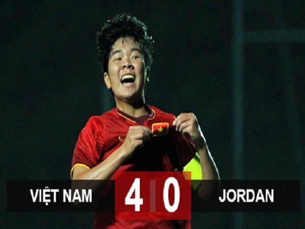 Thắng U19 nữ Jordan, U19 nữ Việt Nam vào vòng loại 2 giải nữ châu Á