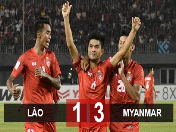 Myanmar ngược dòng thắng Lào 3-1 tại AFF cup 2018