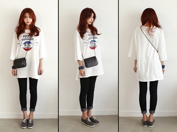 Cách phối đồ áo mặc với quần legging cho nàng sành điệu dạo phố