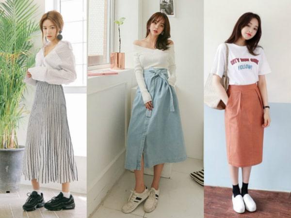 6 cách mix đồ với chân váy dài phù hợp với mọi dáng người