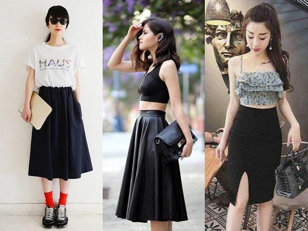6 tips phối đồ với chân váy ôm đen cho nàng quyến rũ