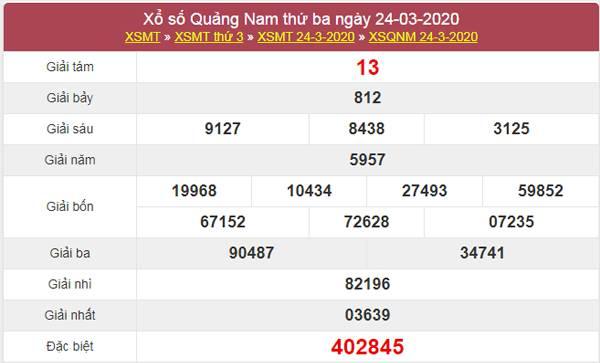 Dự đoán XSQNM 31/3/2020 - KQXS Quảng Nam hôm nay