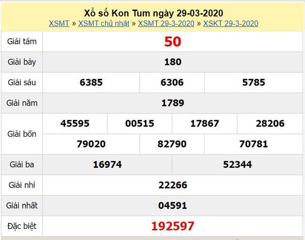 Phân tích XSKT 26/4/2020 - KQXS Kon Tum hôm nay