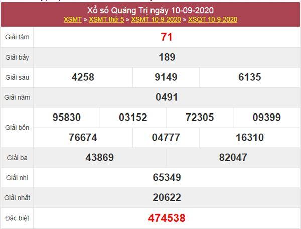 Soi cầu KQXS Quảng Trị 17/9/2020 thứ 5 cực chuẩn