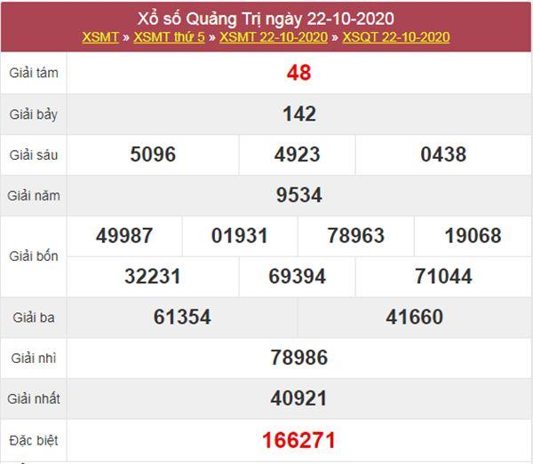 Soi cầu KQXS Quảng Trị 29/10/2020 thứ 5 chính xác nhất