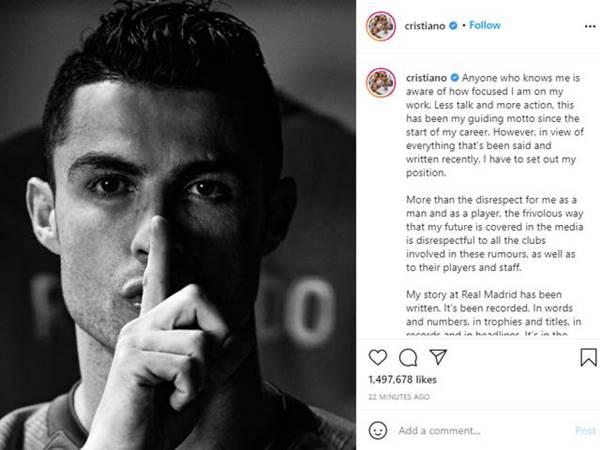 Tin bóng đá chiều 18/8: Ronaldo viết tâm thư chỉ trích truyền thông